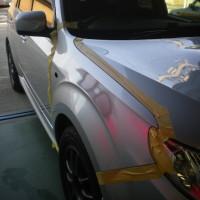 スバルフォレスターフェンダー修理塗装