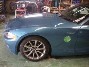 BMW Z4 他社での塗装のやり直し