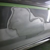 マークⅡワゴン フロントドア板金塗装
