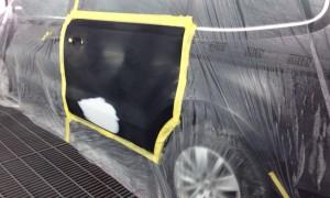 フォルクスワーゲン・シャラン ドアの板金塗装修理