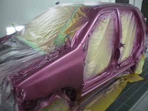 カシスピンクパールメタリック(ZSE)で全塗装